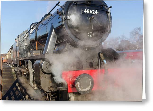 48624 Steam Locomotive Greeting Card by Steev Stamford