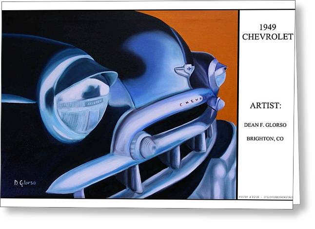 49 Chevy Poster Greeting Card