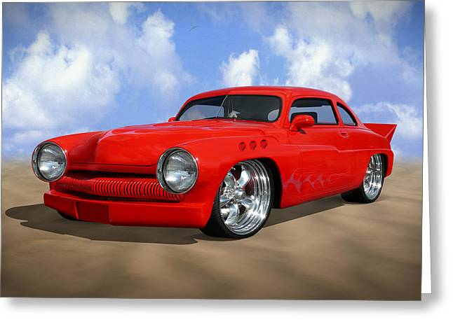 Chrome Greeting Cards - 49 Mercury Greeting Card by Mike McGlothlen