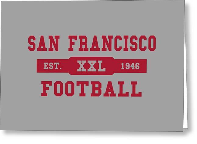 49ers Retro Shirt Greeting Card by Joe Hamilton