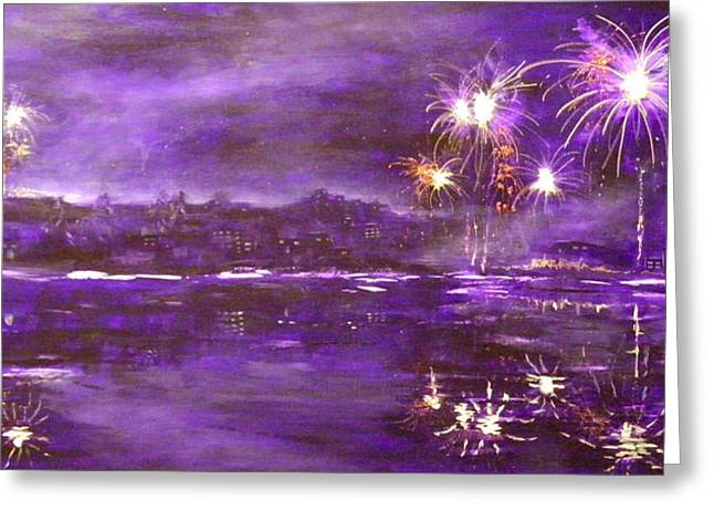 4th July Paintings Greeting Cards - 4rh of July Celebration Greeting Card by Terry Honstead