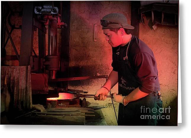4th Generation Blacksmith, Miki City Japan Greeting Card