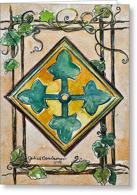 4th Infantry Division Crest Greeting Card