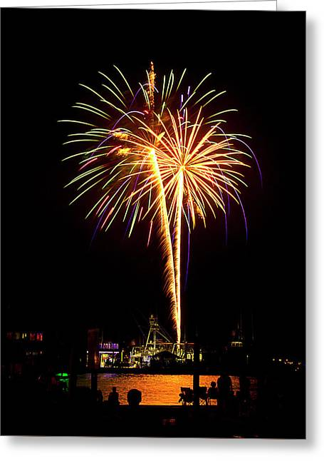Greeting Card featuring the photograph 4th Of July Fireworks by Bill Barber