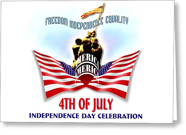 4th Of July Independence Day Design Greeting Card
