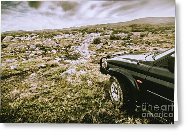 4wd On Offroad Track Greeting Card