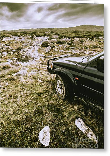 4x4 Tour Tasmania Greeting Card