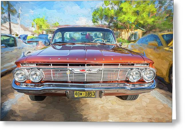 Greeting Card featuring the photograph 1961 Chevrolet Impala Ss  by Rich Franco