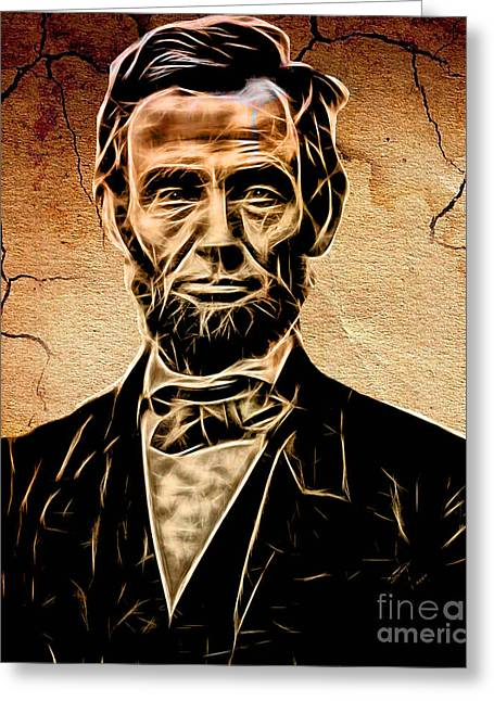 Abraham Lincoln Collection Greeting Card by Marvin Blaine