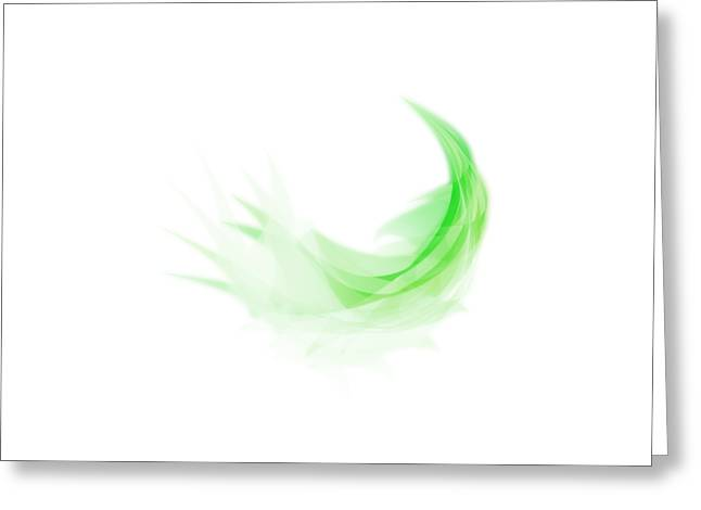 Greeting Card featuring the painting Abstract Feather by Setsiri Silapasuwanchai