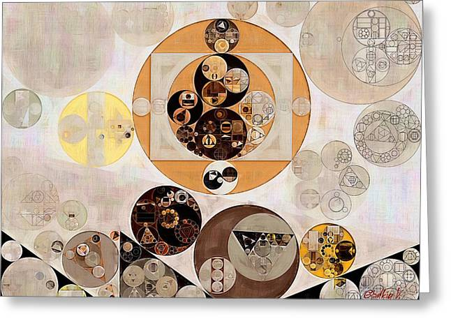 Abstract Painting - Brown Pod Greeting Card
