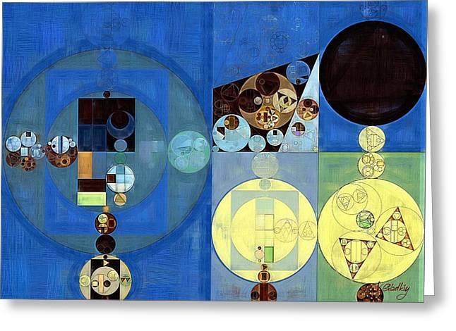 Abstract Painting - Onyx Greeting Card by Vitaliy Gladkiy