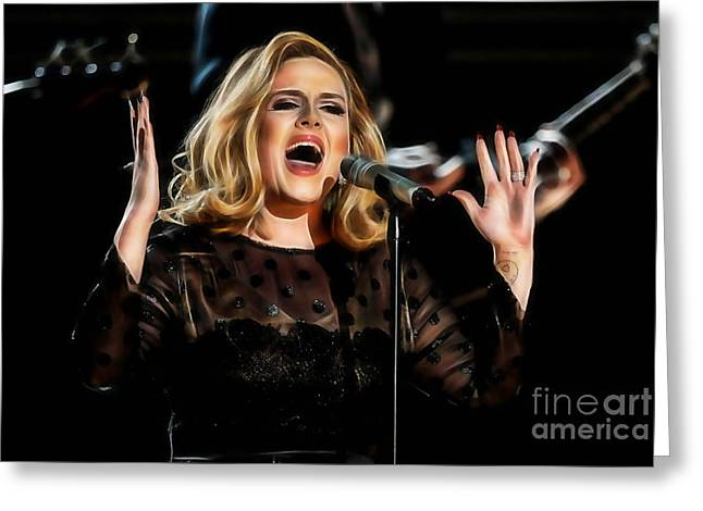 Adele Collection Greeting Card by Marvin Blaine