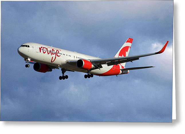 Air Canada Rouge Boeing 767-333 117 Greeting Card