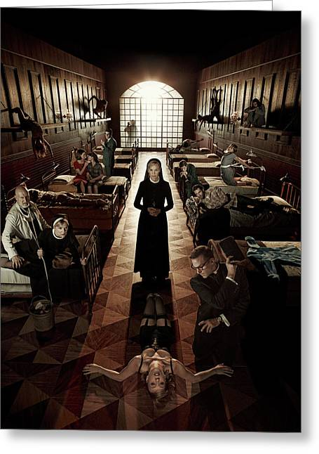 American Horror Story Asylum 2012 Greeting Card by Unknown