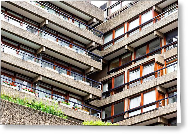 Apartment Building Greeting Card by Tom Gowanlock