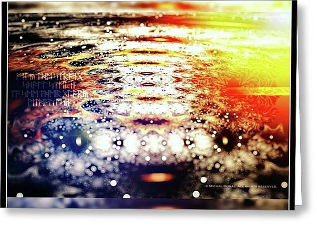 #art #abstract #digitalart #fractals Greeting Card by Michal Dunaj