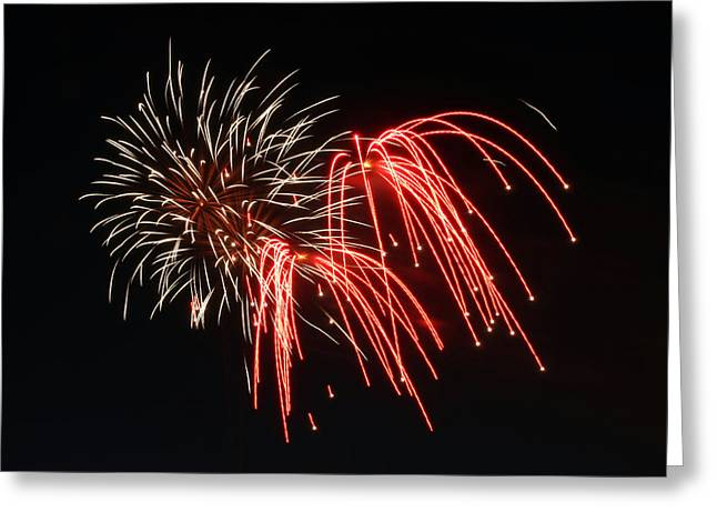 Greeting Card featuring the photograph Astoria Park Fireworks by Jim Poulos