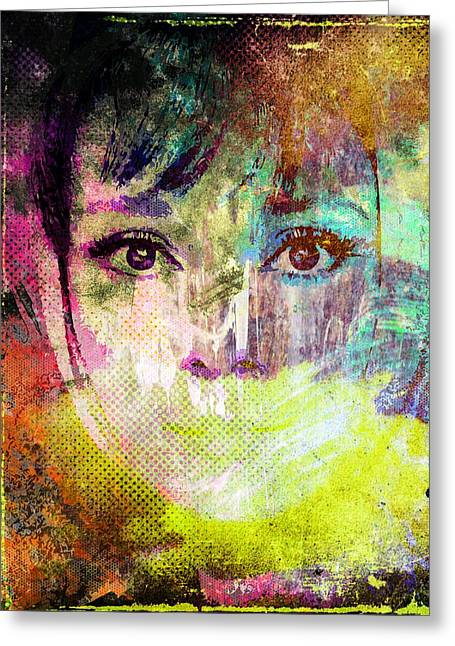 Audrey Hepburn Greeting Card by Svelby Art
