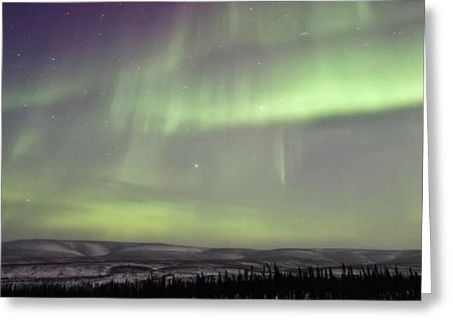 Aurora Borealis Or Northern Lights Greeting Card by Robert Postma