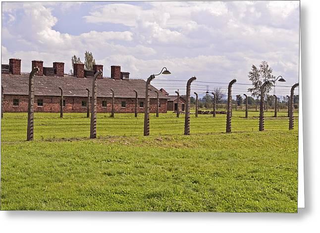 Auschwitz Birkenau Concentration Camp. Greeting Card by Fernando Barozza
