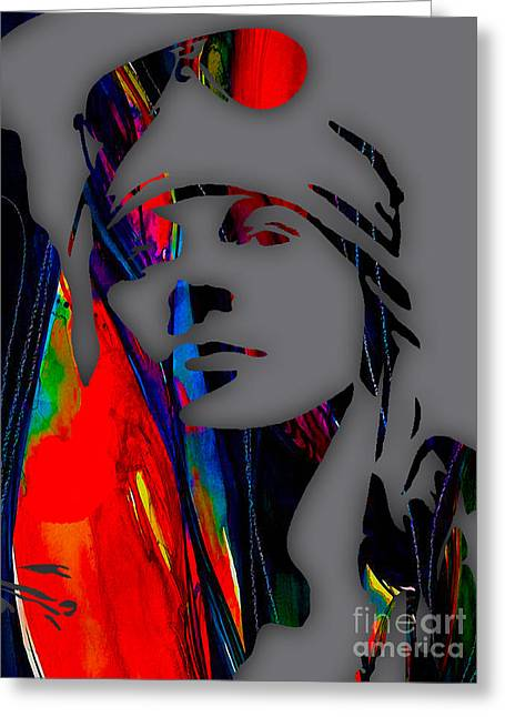 Axl Rose Collection Greeting Card