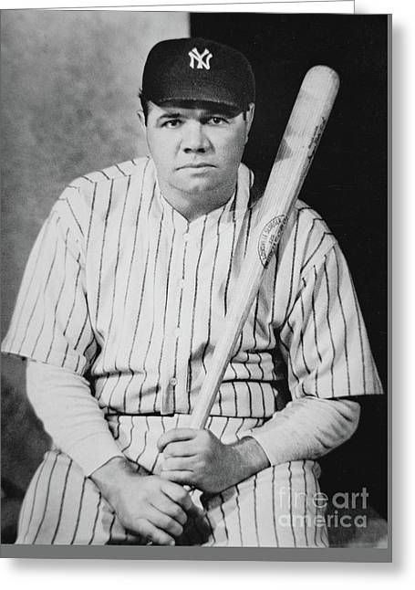 Babe Ruth Greeting Card by American School