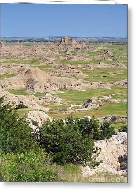 Badlands National Park South Dakota Greeting Card by Louise Heusinkveld