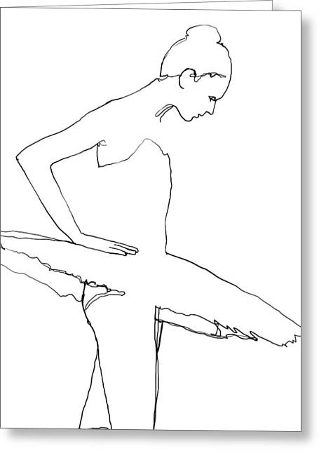 Ballerina Greeting Card by H James Hoff