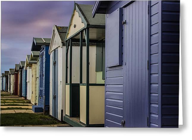Beach Huts Greeting Card by Martin Newman