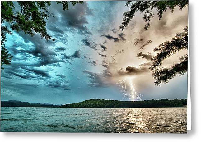 Beautiful Landscape Scenes At Lake Jocassee South Carolina Greeting Card