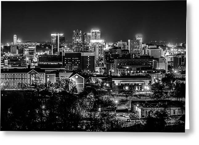 Birmingham Alabama Evening Skyline Greeting Card