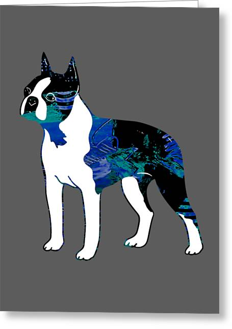 Boston Terrier Collection Greeting Card
