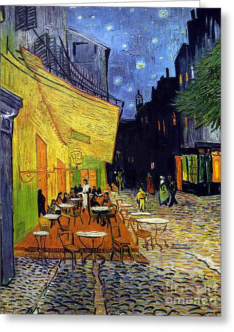 Cafe Terrace At Night Greeting Card by Starry Night