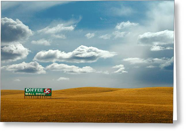 5 Cent Coffee Greeting Card by Todd Klassy