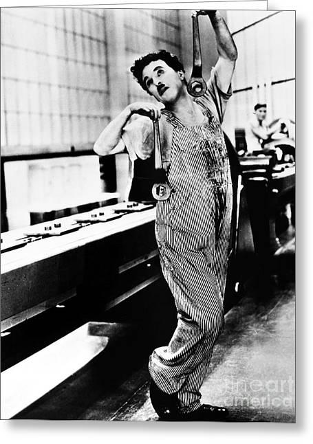 Chaplin: Modern Times, 1936 Greeting Card by Granger
