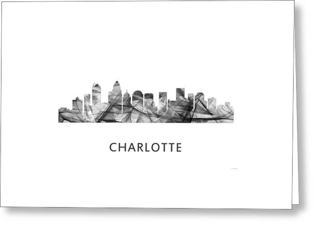 Charlotte Nc Skyline Greeting Card by Marlene Watson