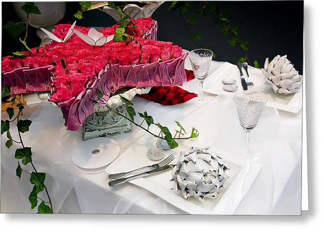 Greeting Card featuring the photograph Christmas Table by Ariadna De Raadt
