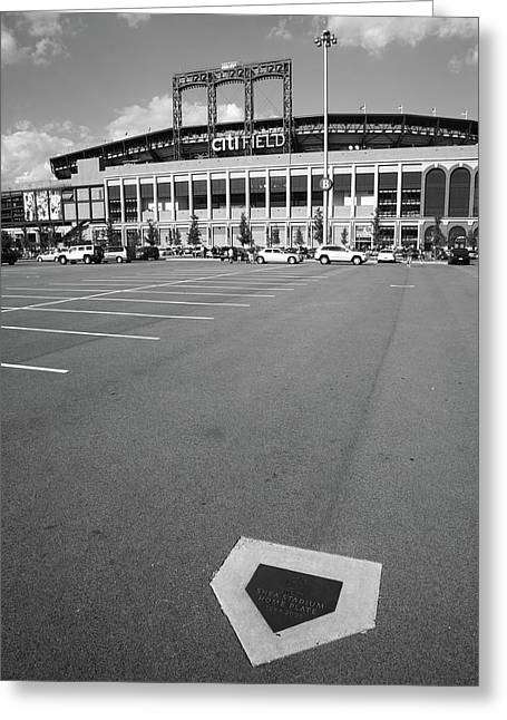 Baseball Art Print Greeting Cards - Citi Field - New York Mets Greeting Card by Frank Romeo