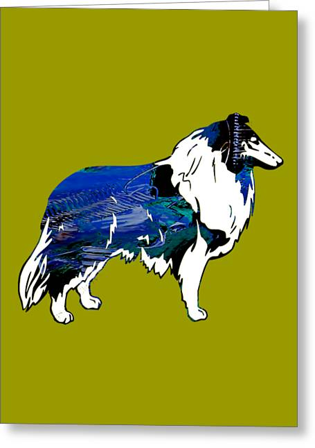 Collie Collection Greeting Card
