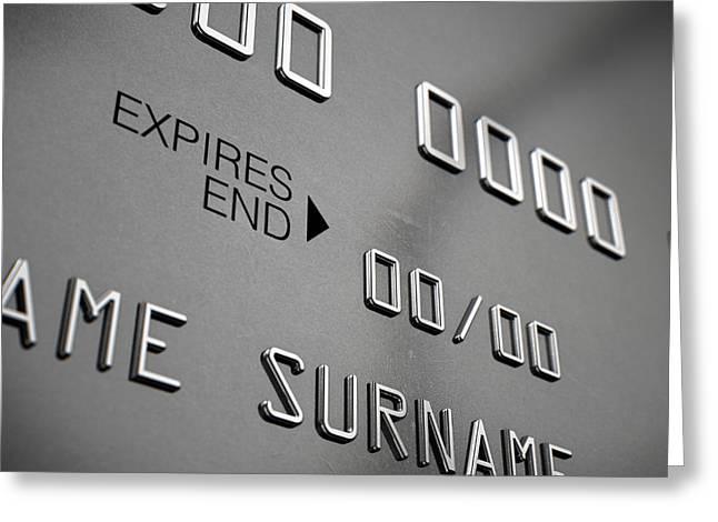 Credit Card Closeup Greeting Card by Allan Swart
