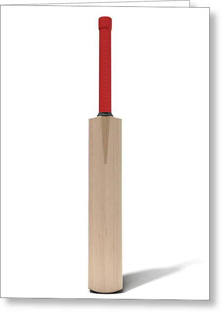 Cricket Bat Greeting Card by Allan Swart