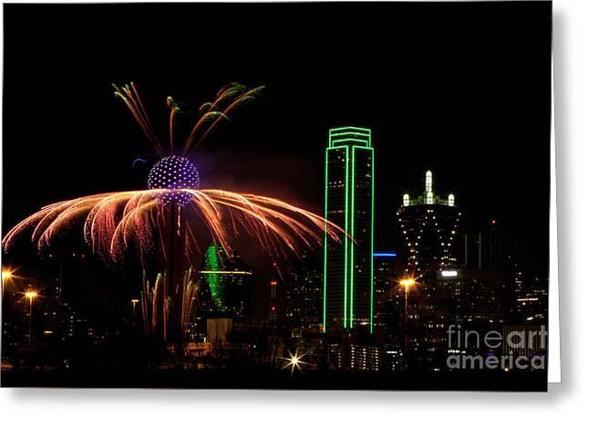 Dallas Texas - Fireworks Greeting Card