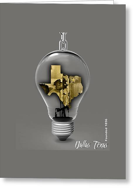 Dallas Texas Map Collection Greeting Card