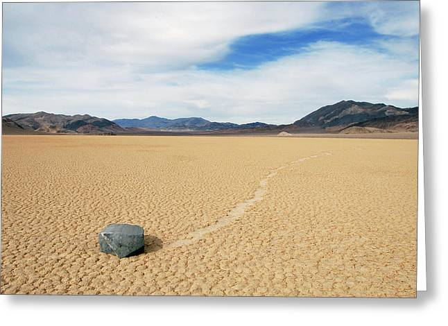 Death Valley Racetrack Greeting Card
