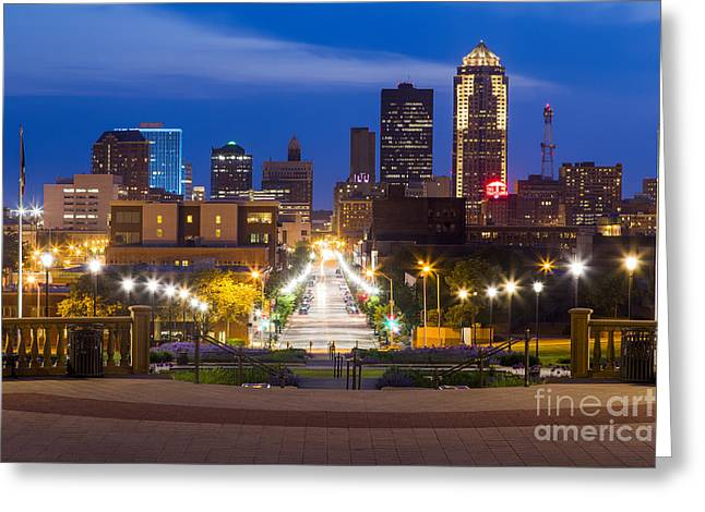 Des Moines From The State Capitol Greeting Card by Twenty Two North Photography