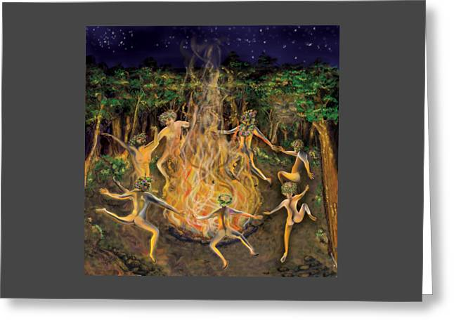 Dancing Naked In The Forest Cd Cover Greeting Card