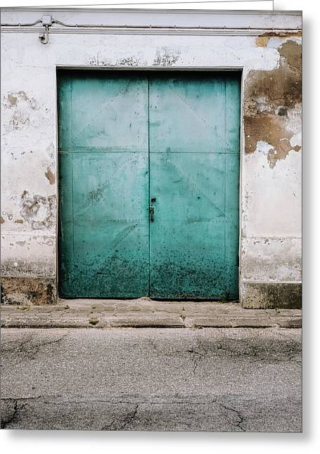 Greeting Card featuring the photograph Door With No Number by Marco Oliveira