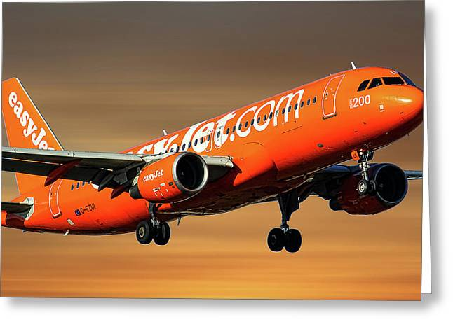 Easyjet 200th Airbus Livery Airbus A320-214 Greeting Card