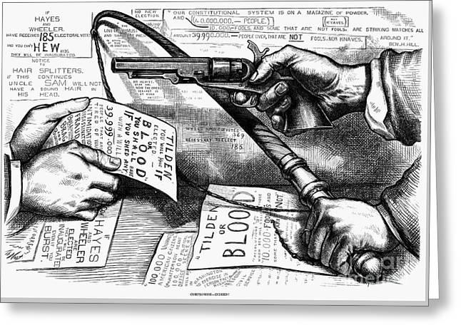 Election Cartoon 1877 Greeting Card